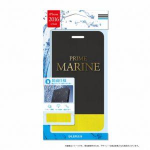 iPhone7 薄型防滴フラップケース「PRIME MARINE」 ブラック・イエロー